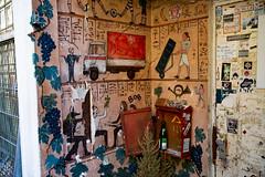 ancient tomb hieroglyphs (Rasande Tyskar) Tags: hamburg karo viertel streetart art street urban graffiti graffity graffito st pauli hyroglyphen tomb ancient hieroglyphs