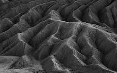 Ridges And Valleys (Travis Rhoads) Tags: 2019 sonyilce7rm2a7rii sony70200f28gm reallyrightstuff ba72l bh55 rrspcl01 tvc33 abstract blackwhite desert landscapephotography monochrome mountains nationalpark copyright2019 travisrhoadsphotography california deathvalleynationalpark zabriskiepoint
