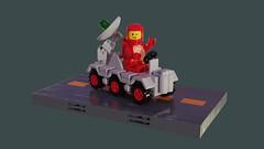 Febrovery 2019 06 (David Roberts 01341) Tags: lego ldd mecabricks classicspace rover vehicle minifigure radartruck febrovery