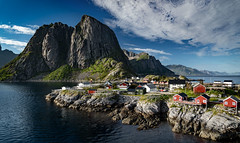 Hamnøya, Moskenes Municipality, Lofoten, Norway (North Face) Tags: norway norge norwegen lofoten islands mountain water ocean sea clouds rocks summer travel outdoor landscape seascape sony a7 iii a7m3 vestfjorden hamnøya hamnøy nature bay village