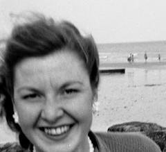Lovely smile (vintage ladies) Tags: vintage blackandwhite photograph photo pretty lovely smile smiling seaside coast eoshe