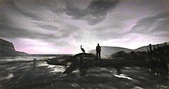 Vision (Loegan Magic) Tags: secondlife landscape ocean dock clouds sea seascape pier sky bird boat male