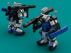 Destrier revamp (The Hydromancer) Tags: mech suit zero frame mobile mfz scifi micro space katana sword seed gundam lego blue astray