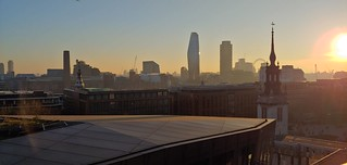 Sunset in London... Exceptional sunny day in winter