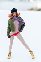Snow Day (edwicks_toybox) Tags: 16scale gactoys tbleague bikini boots femaleactionfigure flightjacket hat magiccube phicen scarf seamlessbody snow