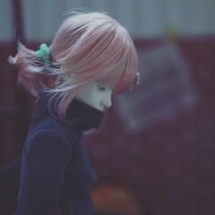 eat & work - pink (tarengil) Tags: zaolluv dollmore balljointeddoll bjd abjd bjdgirl dollstagram instabjd legitbjd basicwhite whiteresin pinkhair