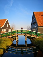 Home (pizarro1290) Tags: peace mirror day nice good bluesky river bridge home amsterdam zaandam