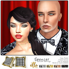 """Spencer Earrings"" by Elle Boutique -  MadPea Premium Alliance Hunt: The Golden Pea Awards! (MadPea Productions) Tags: madpea productions alliance madpeas hunt collaboration golden pea decor decoration jewelry excitement accessories glamour"