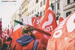 DSCF7223 (Alessandro Gaziano) Tags: foto fotografia alessandrogaziano colori colors people italia italy manifestazione visioni roma gente manifestare bandiere reportage