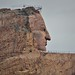 The Face of Crazy Horse on a Mountainside