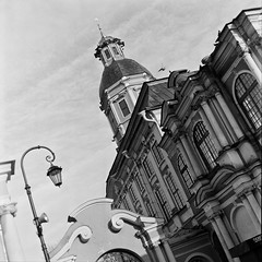 Bells (avjaxon1) Tags: city architecture church cathedral russia tower film monochrome bw