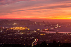 They Said Do You Remember When You Saw Her Last? (Thomas Hawk) Tags: america baybridge eastbay grizzlypeak oakland usa unitedstates unitedstatesofamerica bridge sunset fav10 fav25 fav50 fav100