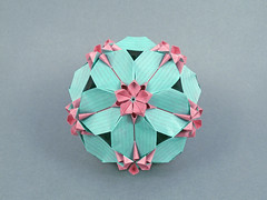 Sweety var. (masha_losk) Tags: kusudama кусудама origamiwork origamiart foliage origami paper paperfolding modularorigami unitorigami модульноеоригами оригами бумага folded symmetry design handmade art