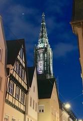 Ulmer Münster (gerdstehle1) Tags: ulmer münster ulm nacht himmel stadt kathedrale
