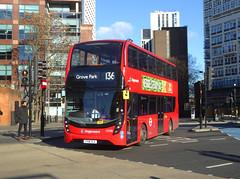 SLN 11008 - YY18TLX - ELEPHANT & CASTLE - THU 17TH JAN 2019 (Bexleybus) Tags: ec elephant and castle underground station london road newington causeway stagecoach selkent adl dennis enviro 400 mmc hybrid tfl route 136 11008 yy18tlx