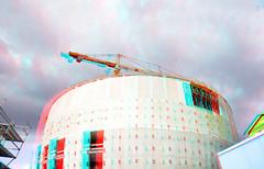 Nieuwbouw depot Boijmans Rotterdam 3D (wim hoppenbrouwers) Tags: nieuwbouw depot boijmans rotterdam 3d anaglyph stereo redcyan