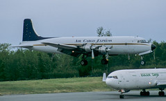 DC-6 | N151 | ANC | 20020527 (Wally.H) Tags: douglas dc6 n151 aircargoexpress anc panc anchorage airport