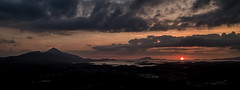 Lights out (mickreynolds) Tags: sunset wildatlanticway mayo westport ireland croaghpatrick clareisland sun set silhouette panoramic pano clew bay