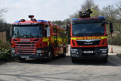 Surrey & Lancashire (matthewleggott) Tags: rosenbauer uk yorkshire surrey lancashire yn66lzc ey68vnj scania man fire engine appliance