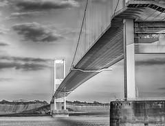 Old Severn Bridge (akatsoulis) Tags: manfrotto tripod monmouthshire gloucestershire riverwye riversevern chepatow britain highwaysengland suspensionbridge gradeilisted southeastwales southwestengland motorways m48motorway d5300 nikon beachley oldsevernbridge