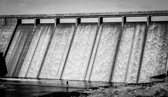 Cow Green Dam . (wayman2011) Tags: colinhart fujifilmxt1 lightroom5 wayman2011 bw mono rural dams water pennines dales teesdale cowgreen uk