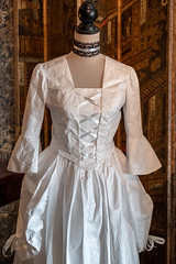 Paper dress with corset front (Carol Spurway) Tags: 2018 nt blickling dress table lady christmas outfit lace georgian blicklinghall costume suit diningroom woman man art artwork dining paper norfolk nationaltrust