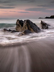 Charlies Rock (Des Daly) Tags: longstrand rathbarry cork beack rock dawn water drag pink tone ireland