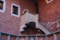 Balcony (Michal Zawolek) Tags: krakow kraków krakau cracow poland polen historical historic medieval renaissance balcony terrace stairs brick bricks windows window