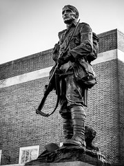 Standing Tall (aquanout) Tags: blackandwhite monochrome memorial tommy soldier tunbridgewells war building