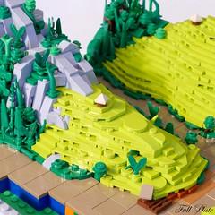 WIP Rice Paddy Fields 3 (Emil Lidé) Tags: lego moc wip rice paddy field terrace mountain river jungle hut
