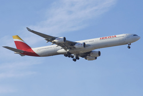 IBERIA Airbus A340-600; EC-IZY@MAD;30.01.2019