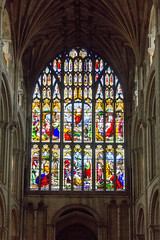 IMG_5220 West Window (Beth Hartle Photographs2013) Tags: norfolk norwich cathedral anglican ancient historic benedictine monastery churchofengland stainedglass 13thcentury