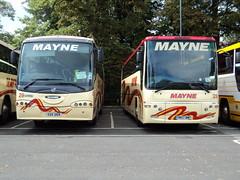 Mayne of Warrington 29 SSV269 & 28 YN57BWY (yorkcoach2) Tags: york warrington mayne mayneofwarrington 28 29 scania irizar century plaxton ssv269 yn57bwy stgeorgesfieldcoachpark