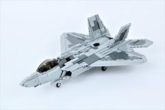F-22 'Raptor' (Corvin Stichert) Tags: lego raptor f22 lockheed martin jet fighter aircraft plane
