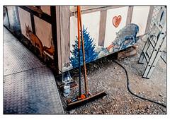 (schlomo jawotnik) Tags: 2018 mai braunschweig schlomostierwelt kirmes rummel fahrgeschäft kabel besen wildschwein fuchs leiter nadelbaum wasserflasche pet herz usw