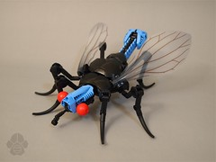 Acid Fly (AlexParkDesigns) Tags: insect bug life animal blue wing wings black eye see rahi creature figure toy lego bionicle technic scene