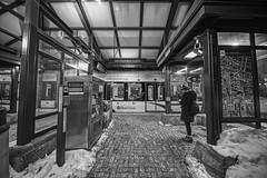 DSC_6989BW (peterstratmoen) Tags: lightrail minneapolis minnesota winter trainstations train