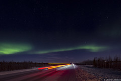 Z19_0746 LT (Zoran Babich) Tags: lapland lappi suomi snow winter finland auroraboreali northernlights road lighttrail