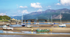 The River Mawddach at Barmouth, North Wales (Baz Richardson (catching up again!)) Tags: wales barmouth northwales rivermawddach yachts smallboats mountains cadairidris snowdonianationalpark