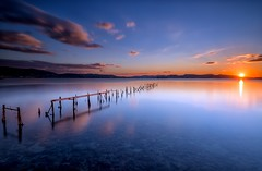 """Just a little more"" (RF-Edin) Tags: greece sea sunset pier longexposure"