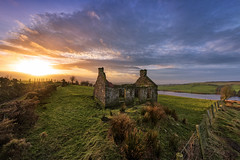 """""""The Lough Ash Homestead"""" (Gareth Wray - 13 Million Views, Thank You) Tags: water old abandoned decay house cottage famine stone haunted summer northern ireland ulster ni uk scenic landscape lakescape sperrins county tyrone gareth wray photography strabane nikon d810 nikkor 1424mm hdr blue sky sunset red sun set tourist tourism site visit countryside country side moor lough ash lake scape grass reflections glenmornan irish colourful hills donemana donemanagh photographer home vacation holiday europe architecture"""