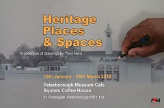 So if you missed it first time around my show #HeritagePlacesNSpaces will now be shown at the Peterborough Museum. Exhibition starts this week and runs until 24 March...lots of opportunity to jump across and check out the pieces. Some greeting cards avail (Tony Nero) Tags: artoftonynero tony nero art peterorough cambridgeshire creative out about craft paintings