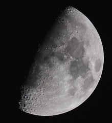 Tonight's Moon (59% waxing gibbous) (Gwenael B) Tags: moon waxing gibbous evostar80ed skywatcher evostar apo refractor astro astronomie lune gibbeuse nuit night