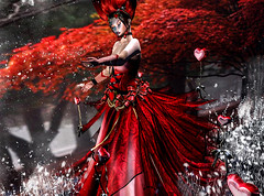 Second Life 10.02.19 (Angelo Diabolico) Tags: valentine heart crazy love fantasy red gown outfit sexy cloth women woman veil jewel necklace corset hud maitreya belleza slink hourglass tonic omega applier gloves balloon irrisistible shop sl secondlife second life
