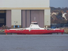 Red Kestrel (Das Boot 160) Tags: redkestrel redfunnelferries iow solent cammelllairds lairds ferries ferry roro launch floatoff ships sea ship river rivermersey port docks docking dock boat boats maritime mersey merseyshipping