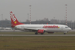 A56A7132@L6 (Logan-26) Tags: boeing 73786j phcdh msn 36121 corendon dutch airlines in fog riga international rix evra latvia foggy airport aleksandrs čubikins