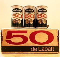 Vintage Beer (Pennan_Brae) Tags: retro vintage prop indiefilm beercan beercase vintagebeer canadianbeer labatts beer filmmaking
