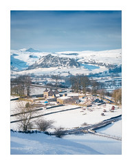 A rural winter scene (Dave Fieldhouse Photography) Tags: peakdistrict peaks snow winter weather parkhousehill ice farmland farm farmbuilding farmhouse rural trees fields farming uk england hills drystonewall landscape sunshine fuji fujixt2 fujifilm wwwdavefieldhousephotographycom staffordshire staffordshirelife leek buildings