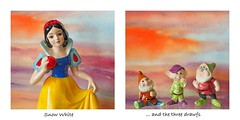Snow White and the Three Dwarfs (Eclectic Jack) Tags: disney drawf drawfs seven white snow collage funny