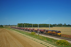 Southbound freight @ Corcelles-les-Arts (Wesley van Drongelen) Tags: ecr euro cargo rail db ews baureihe br reihe rh serie série type reeks class 66 freight fret trémies corcelles les arts meursault train trein zug